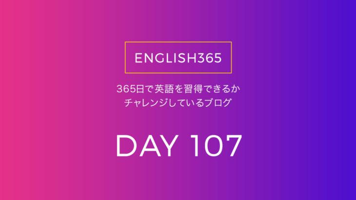 英語習得チャレンジ「107日目」…単語調べるのを少しずつ