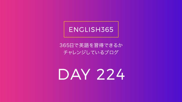 英語習得チャレンジ「224日目」…知ってるフレーズが出てくるとうれしいね