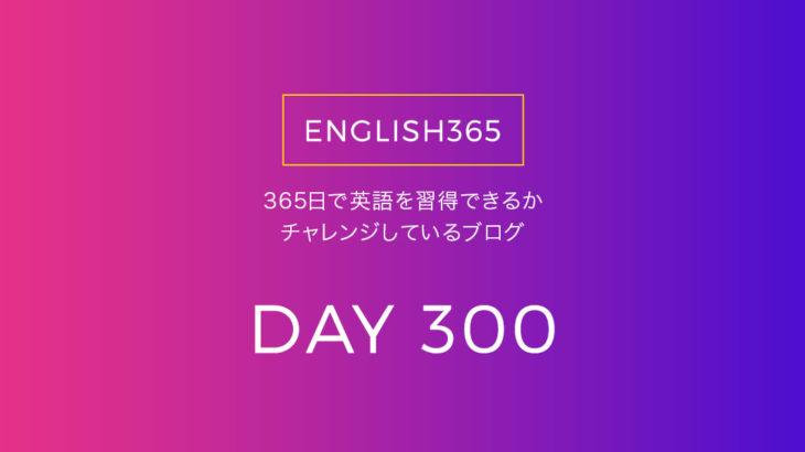 英語習得チャレンジ「300日目」…wound/300日目かあ
